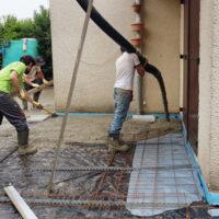 CGY Construction - Bétonnage d'une terrasse
